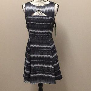 BB Dakota black and white abstract print dress